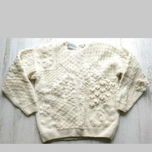 Northern Island Hand Knit Sweater Chunky NEW $98